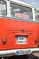 """2007-07-15 Heck eines VW T1, Baujahr 1962, Sondermodell """"Samba-Bus"""" mit 23 Fenstern und Faltschiebedach IMG 3083.jpg"""