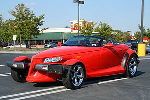 Plymouth Prowler - Image: 2008 10 05 Red Plymouth Prowler at South Square