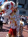 2008 Olympic Torch Relay in SF - Lion dance 10.JPG