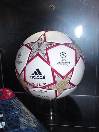 2010 UEFA Champions League Final - A ball from the final on display at the 2011 UEFA Champions Festival in Hyde Park, London.