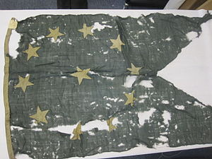 Confederate States Navy - Pennant of Admiral Franklin Buchanan used at Mobile Bay, Alabama.