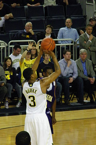 Trey Burke - Burke shooting a free throw for the 2011–12 Michigan Wolverines men's basketball team (2011-11-17)