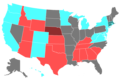 2012 United States Senate Election by Change of the Majority Political Affiliation of Each State's Delegation From the Previous Election.png
