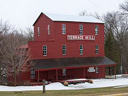 The Terrace Mill is a core part of two historic districts in the township: the Terrace Mill Historic District and the Terrace Historic District, both on the National Register of Historic Places.