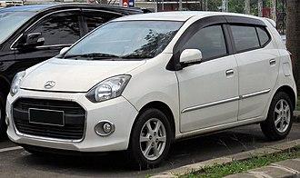 Daihatsu Ayla - 2014 Daihatsu Ayla 1.0 X (B100RS; pre-facelift, Indonesia)