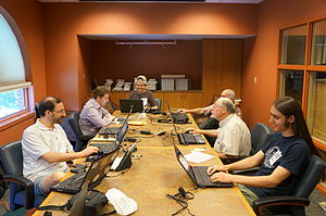 Attendees at the Frederick County History Edit-a-Thon. View more pictures of the event»