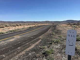 Nevada State Route 816 - View at the west end of SR 816 looking eastbound