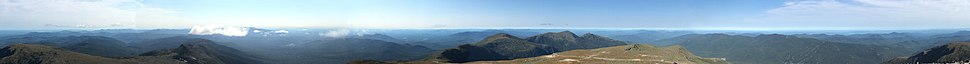 Stitched 360-degree panorama from around the summit