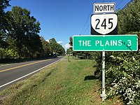 2016-10-03 16 25 08 View north along Virginia State Route 245 (Old Tavern Road) at U.S. Route 17 (James Madison Highway-Winchester Road) in Old Tavern, Fauquier County, Virginia.jpg