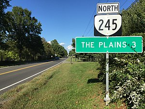 Virginia State Route 245 - View north at the south end of SR 245