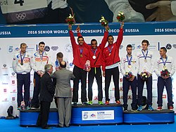2016 World Modern Pentathlon Championships - Victory Ceremony Team Men.jpg