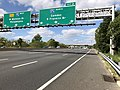 2018-10-03 13 07 58 View west along Interstate 76 (North-South Freeway) at Exit 2 (Interstate 676 NORTH, Camden, Benjamin Franklin Bridge) in Gloucester City, Camden County, New Jersey.jpg
