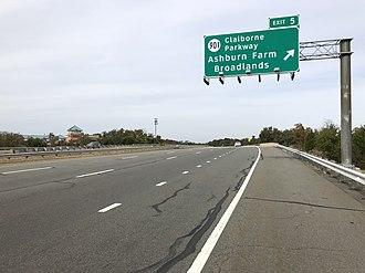 Broadlands, Virginia - SR 267 exit for Broadlands
