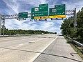 2019-05-21 11 50 21 View north along Interstate 97 (Glen Burnie Bypass) at Exit 15A (Maryland State Route 176 EAST, Glen Burnie) in Glen Burnie, Anne Arundel County, Maryland.jpg