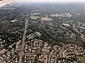 2019-07-22 15 58 02 View east along Virginia State Route 620 (Braddock Road) from an airplane heading for Washington Dulles International Airport passing over Centreville, Fairfax County, Virginia.jpg
