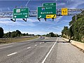 2019-09-19 10 49 23 View west along Maryland State Route 100 (Paul T. Pitcher Memorial Highway) at Exit 13B (Interstate 97 NORTH, Baltimore) in Glen Burnie, Anne Arundel County, Maryland.jpg