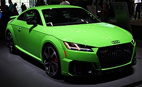 2019 Audi TT RS with Technical Specification front NYIAS 2019.jpg