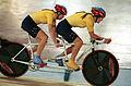 221000 - Cycling track Tania Modra Sarnya Parker action - 3b - 2000 Sydney race photo.jpg