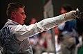 221000 - Wheelchair Fencing Michael Alston action 4 - 3b - Sydney 2000 match photo.jpg