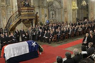 Patricio Aylwin - The funeral cortege of Patricio Aylwin on 22 April 2016 in Santiago.