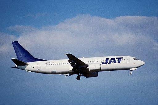 258bz - JAT Yugoslav Airlines Boeing 737-400, YU-AOO@ZRH,14.09.2003 - Flickr - Aero Icarus
