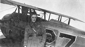 "Saints Aerodrome - Lt Roger W. ""Cap"" Rowland of the 27th Aero Squadron with his SPAD 13 C.1, August 1918.   Rowland was a hero in his hometown of Springfield, MA, he was credited with shooting down three planes and unofficially with downing nine others in 15 air combats."