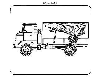 2S12 Sani - 2S12 and the GAZ transport truck as described, shown in a US Army manual.