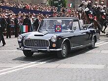 Il Presidente Giorgio Napolitano sulla Flaminia