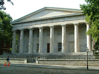 William Strickland (architect) - Second Bank of the United States, Philadelphia (1819-24)