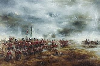 73rd (Perthshire) Regiment of Foot - The 2nd Battalion, 73rd Regiment of Foot and the 2nd Battalion, 30th Regiment of Foot at the Battle of Waterloo, June 1815, Joseph Cartwright