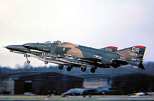 Soesterberg Air Base - F-4E Phantom II of 32nd TFS taking off, around 1975, at Soesterberg Air Base