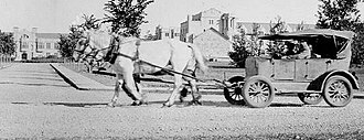 Saskatchewan - Bennett buggies, automobiles pulled by horses, were used during the Great Depression by farmers with too little cash to purchase gasoline.
