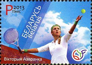 Victoria Azarenka - Azarenko on Belarus postage stamp