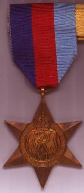 South African military decorations - Image: 39 45star