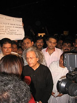 3 December 2008 Gateway protest march Anil Dharker.jpg