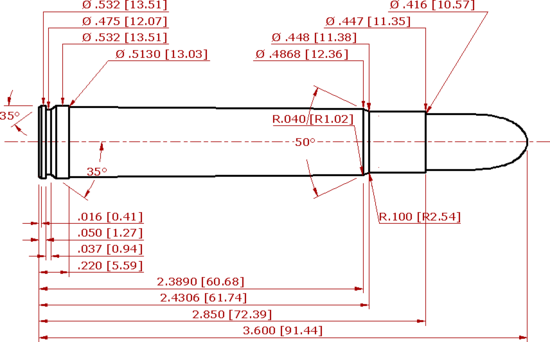 .416 Remington Magnum Schematic