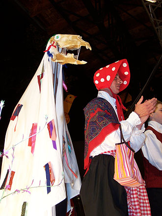 Mari Lwyd - A Mari Lwyd, during a celebration in 2006