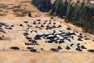 Field hospital - A U.S. Army Combat Support Hospital, a type of field hospital, in 2000