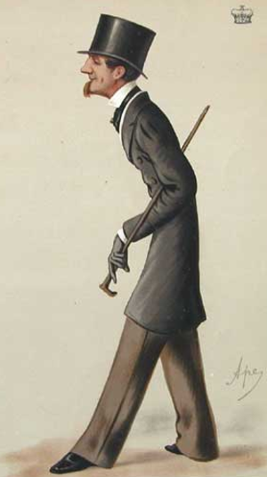 Wiltshire County Council - The 4th Marquess of Bath, first Chairman of Wiltshire County Council (caricature by Carlo Pellegrini)