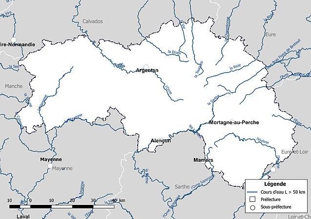 Réseau hydrographique de l'Orne — Wikipédia