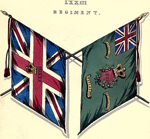 73rd (Perthshire) Regiment of Foot - Regimental colours
