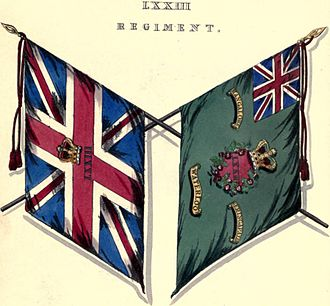 73rd (Perthshire) Regiment of Foot - Regimental colours