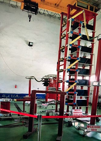 Marx generator - 800 kV Marx generator in laboratory at the National Institute of Technology, Durgapur India.
