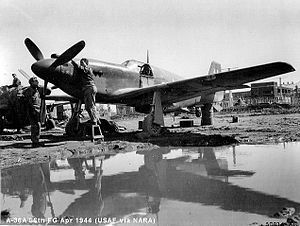 86th Operations Group - 86th FG A-36A Mustang being serviced in Italy, 1944