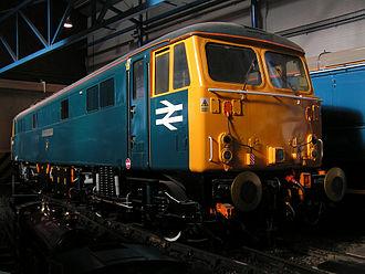 British Rail Class 87 - British Rail Class 87 No. 87001 restored to static display at the National Railway Museum