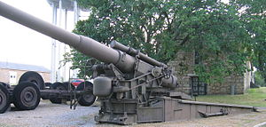 8-inch Gun M1 - 8-inch Gun at the U.S. Army Field Artillery Museum, Fort Sill, OK