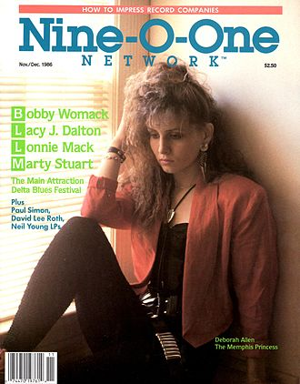 Nine-O-One Network Magazine - November 1986 issue with Deborah Allen on the cover