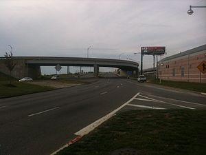 Atlantic City Expressway - The beginning of the westbound Atlantic City Expressway in Atlantic City