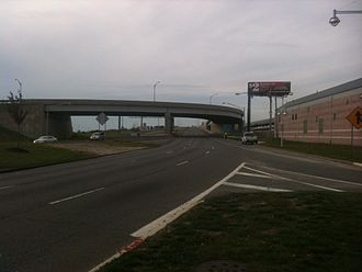 Atlantic City Expressway - The beginning of the westbound Atlantic City Expressway in Atlantic City