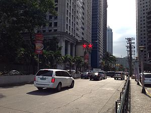 ADB Avenue - View from Ortigas Avenue junction